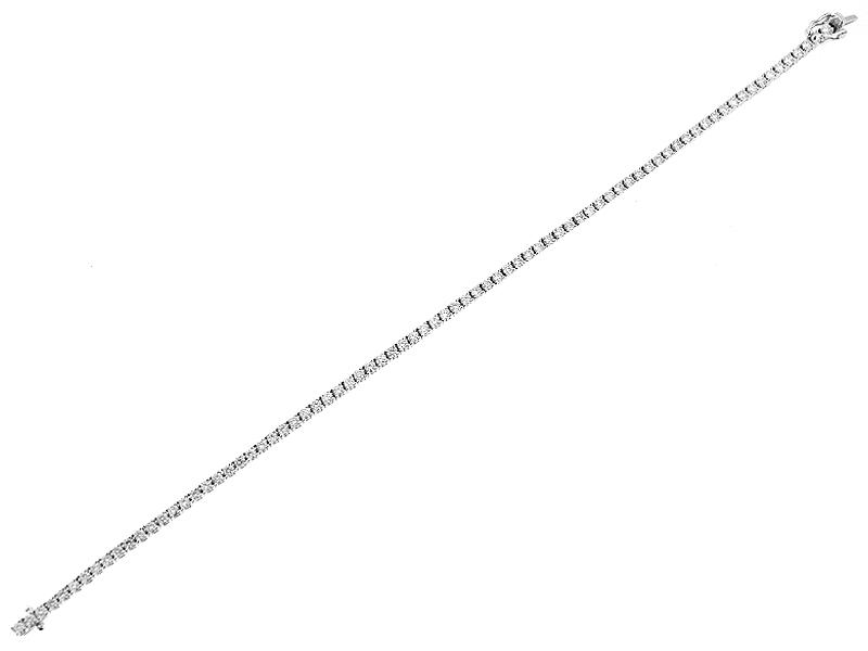 Ladies Tennis Bracelet with Diamonds in 18kt White Gold