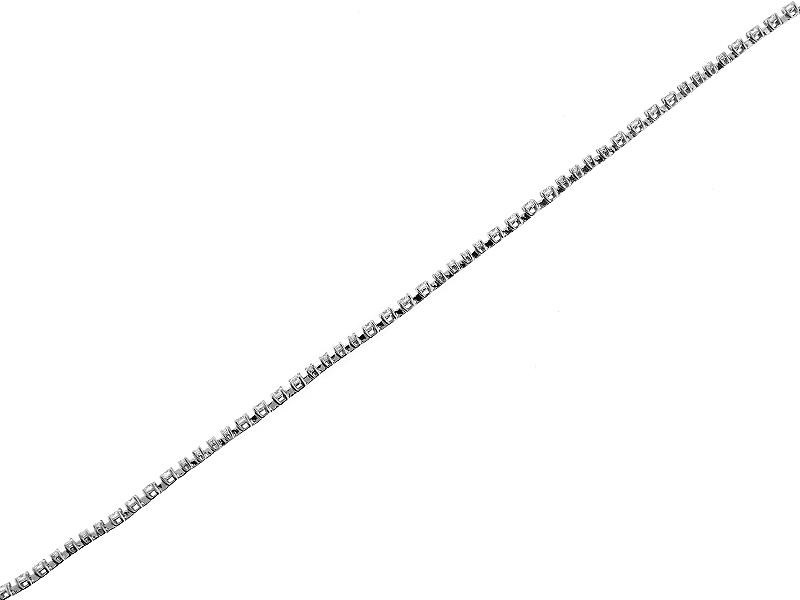 Ladies Tennis Bracelet with Diamonds in 18k White Gold