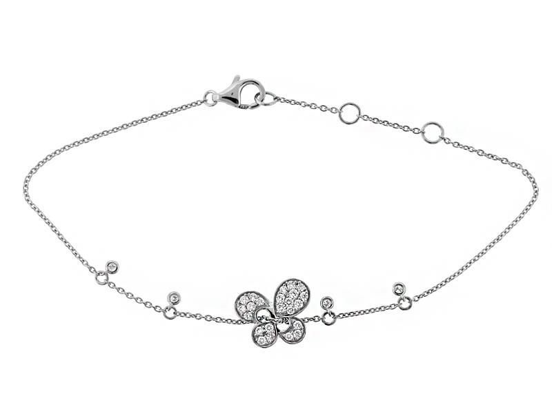 Butterfly Bracelet with Diamonds in 18k White Gold