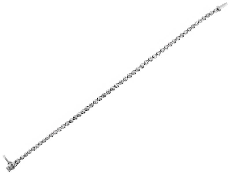 Diamond Tennis Bracelet in 18k White Gold