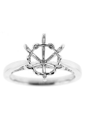 6 Prong Solitaire Diamond Engagement Ring in 18K White Gold