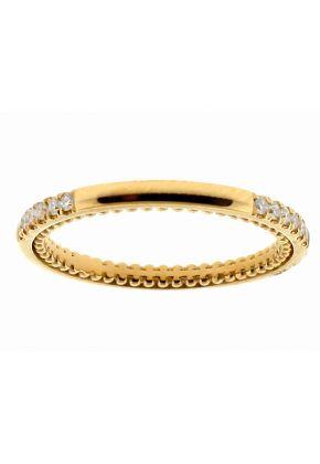 18k Yellow Gold Wedding / Anniversary Band with Diamonds