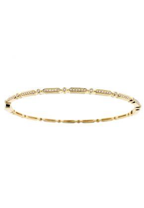 Diamond Bangle / Thin Bracelet - 14k Gold - Minimalist Jewelry