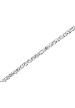 Ladies Tennis Bracelet with Round Diamonds in 18k White Gold