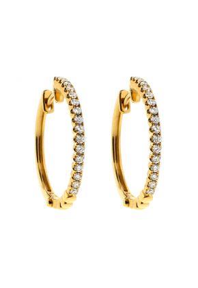 0.58 tcw Diamond Hoop Earrings in 18kt Yellow Gold