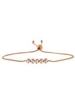 Bolo Bracelet with Diamonds in 18k Rose Gold