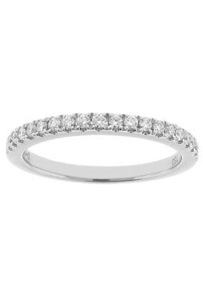 Diamond Wedding Band - 18k White Gold Ring